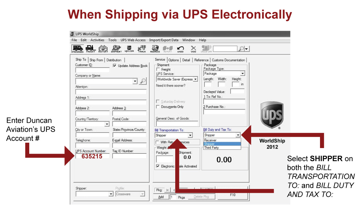 UPS shipping form help.